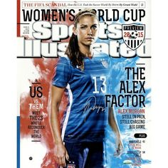 Alex Morgan Signed 2015 World Cup Sports Illustrated 16x20 Photo (SSM & LOJO Sports Auth)