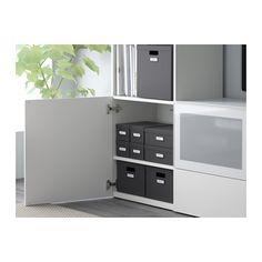 TJENA Box with lid - black - IKEA