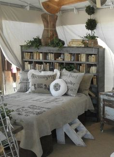 bookcase headboard. I like the headboard, but not the rest of the room.