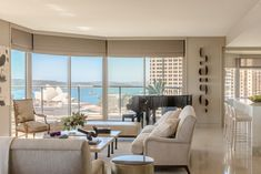 Living Room in Sydney Harbour by Thomas Hamel & Associates on Belle Magazine, Custom Lamp Shades, Soft Furnishings, Contemporary Style, Sydney, Minimalism, Living Room, Interior, Furniture