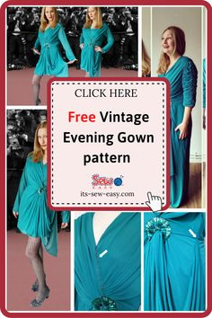 This vintage evening gown pattern will have heads turning every time you wear it. Instead of making the dress from scratch, you can upcycle a cheap dress you see in the thrift shop and turn it into a chic and elegant gown. With a few adjustments here and there, you can make the dress to suit your body size. With this pattern, you can make a dress that you will want to wear every chance you get. #eveninggownpatterns#sewingpatterns#gownsewingpatterns#vintagegownpatterns#sewingvintagegowns Formal Dress Patterns, Unique Formal Dresses, Vintage Patterns, Sewing Patterns, Evening Gown Pattern, Vintage Evening Gowns, Elegant Gown, Gowns Of Elegance, Body Size