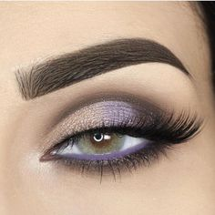 Smokey lavender eye makeup