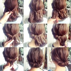 25 fast hairstyles for medium and long hair for every day. - hairstyleto - 25 fast hairstyles for medium and long hair for every day. – hairstyleto 25 fast hairstyles for medium and long hair for every day. Medium Hair Styles, Curly Hair Styles, Short Styles, Updo Styles, Hair Medium, Short Hair Braid Styles, Hair Down Styles, Braids For Short Hair, Bob Styles