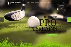 Ad: Hot Golf by hot-themes on @creativemarket. Responsive template, based on clean HTML5/CSS3 code, and powered by Sparky Framework for Joomla. 3 pre-defined color styles. All colors are #creativemarket Themes Photo, Web Themes, Joomla Themes, Site Down, Professional Website, All The Colors, Golf, Coding, The Unit
