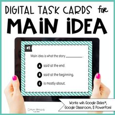Looking for a digital way to get your students to practice Main Idea and Details? My digital Main Idea task cards are a perfect and easy way to get students to understand this skill. The task cards are self-differentiating with NO extra work from you!These specific task cards are a differentiated ... Dok Levels, Extra Work, Levels Of Understanding, Vocabulary Cards, Main Idea, Recording Sheets, Google Classroom, Teaching Tools, Task Cards