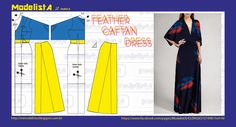 CAFTAN, dress patterns