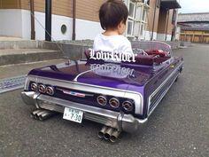 64' Impala Lowrider Pedal Car  with car club plaque