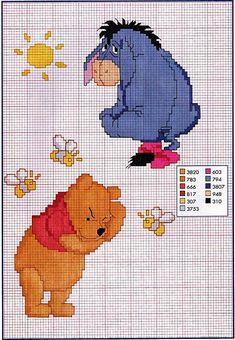 Pooh and Eeyore cross stitch pattern