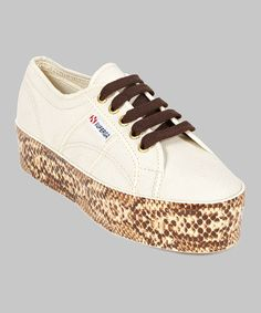 Take a look at this Tan 2790 Viper Foxing Sneaker - Women by Superga on #zulily today! $50 !!