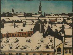 Koller-Pinell, Broncia Freihaus, um 1903 Holzschnitt
