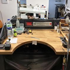 First day back after the holidays and I have a new work bench to get used to..