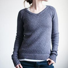 Stonewall sweater knitting pattern by Alicia Plummer - knit with worsted weight yarn