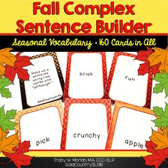 Help your students create complex sentences containing dependent and independent clauses using seasonal vocabulary.