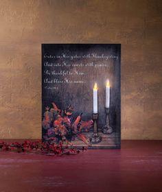 Radiance Lighted Canvas Thankful Wall Art