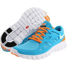 Nike Free Run+ 2. Awesome super light weight barefoot style running. Check out that color!!!   Only $90