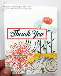A sneak peek look at the Delightful Daisy stamp set. Find supplies at www.shopwithmystamplady.com