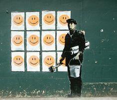 """Banksy """"revolución de la alegría"""""""