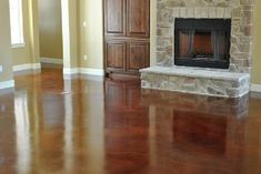 Stained Concrete Floors that have the warmth of wood,  but are durable and inexpensive.