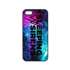 Fashion Sleeping With Sirens Personalized iPhone 5 5S Rubber Gel... ($8.81) ❤ liked on Polyvore