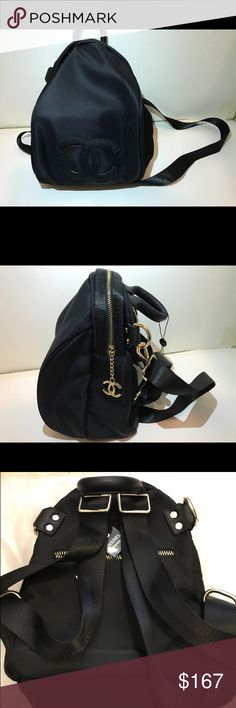 Chanel VIP gift backpack cross body bag shoulder Authentic 2017 Chanel VIP gift backpack cross body bag hand bag , Nylon ,Black ,Gold Hardware, New. This is a VIP gift form Chanel Korea. Size H 12 x 8 x D 6 . VIP gift does not come with any serial number/card, please make sure you like the size before you purchase it. Please feel free to ask any questions, thanks. CHANEL Bags Backpacks
