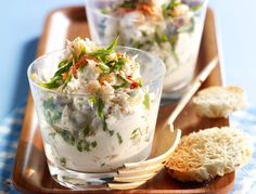 Crab Rillettes with Orange and Cottage Cheese (sub grape seed oil for butter) Crab Recipes, Appetizer Recipes, Dinner Recipes, Crab Legs Recipe, Charcuterie Recipes, Xmas Food, Appetisers, Dessert, Snack