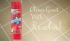 Skip the bleach for your grout.  Clean your grout with Resolve.