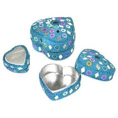 turquoise jewelry box, small jewelry box, jewelry box, blue jewelry box, womens jewelry box