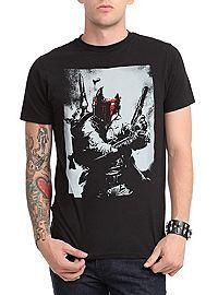 HOTTOPIC.COM - Star Wars Boba Fett Red Face T-Shirt