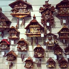 Cuckoo clocks...always fascinated me.