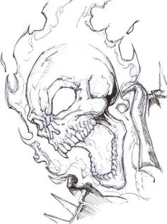 Drawing Superhero ghost rider by ChrisOzFulton on DeviantArt - Badass Drawings, Creepy Drawings, Marvel Drawings, Art Drawings Sketches, Cartoon Drawings, Ghost Rider Kostüm, Ghost Rider Drawing, Ghost Rider Tattoo, Ghost Rider Marvel