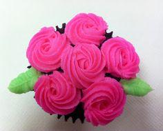 Cupcakes ramos de rosas