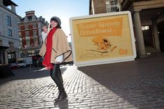 Giant edible cheese billboard launches new ad campaign for Virgin Media in Covent Garden, London. The ad stars cartoon Mexican mouse, Speedy Gonzales, as the face of Virgin's superfast broadband. Food artist Prudence Staite created the 5mx4m billboard using ten types of locally sourced cheese and black peppercorns. It took a team of 13 artists, ten days to create in a chilled studio. Arriba! Virgin Media, Food Artists, A Team, Take That, Product Launch, Covent Garden, Cartoon, Studio, Billboard