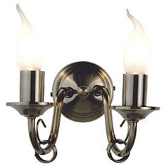 Burton Antique Brass Effect Semi Flush Ceiling Light  0000005269655     Wall lights for lounge
