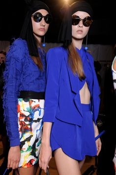 MILLY Spring 2015 Runway Show #blue #pantonepretty #milly