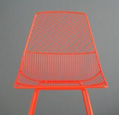 Neon Orange Chair by Bend. Home Design Decor, Home Decor, Orange Grey, Orange Color, Modern Furniture, Furniture Design, Neon Furniture, Futuristic Furniture, Furniture Chairs