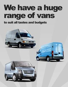 We have a huge range of vans