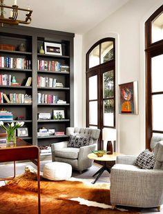 inspired design - black bookcases