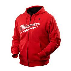 Milwaukee Tools 2371-XL M12™ Cordless Heated Hoodie Kit; Cotton Blend, Red, X-Large