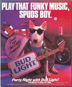 Spuds MacKenzie debuted as the spokesdog/mascot for Bud Light. | This What The World Looked Like In 1987