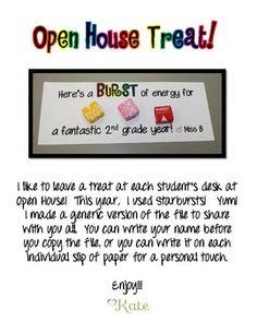 first grade meet the teacher ideas with mints