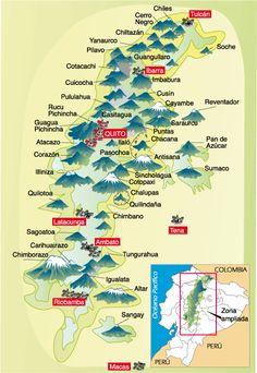 El Planeta Azul: Volcanes De América Del Sur.Mapas
