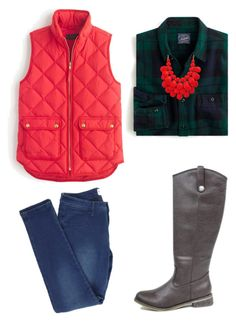 """Vest Weather is the Best Weather"" by shopentourage ❤ liked on Polyvore featuring J.Crew"