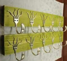 Salvaged wood and fork rack...neat!  #LiquidGoldSalvagedWood  http://papasteves.com/