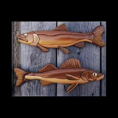Buy PS Wood Walleye and Trout Intarsia Pattern at Woodcraft.com