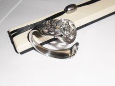 Nostalgischer Silberbesteck Armreif  90er AB236 von Atelier Regina auf DaWanda.com