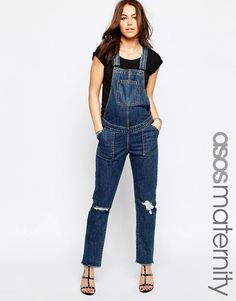 Bild 1 von ASOS Maternity – Jeans-Latzhose