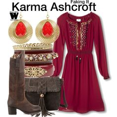 Inspired by Katie Stevens as Karma Ashcroft on Faking It.