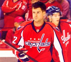 Mike Green. Washington Capitals. He's too pretty to play hockey.