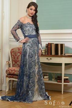 La légende Muntaz - LA NOBLESSE DU CAFTAN COLLECTION 2014 - Créations haute couture orientale, robes de soirées - Safâa Stylisme