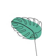 Continuous Exotic Plant Of Monstera One Line Drawing Minimalist Design, One, Monstera, Creative PNG Minimalist Drawing, Minimalist Design, Minimalist Style, Watercolor Flower Background, Continuous Line Drawing, Plant Drawing, Leaf Drawing, Plant Art, Plant Illustration